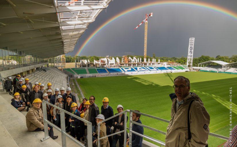Visite du stade du Hameau