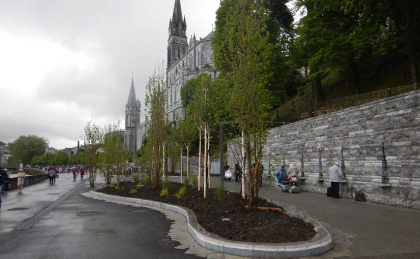 Visite : aménagement de la grotte de Lourdes