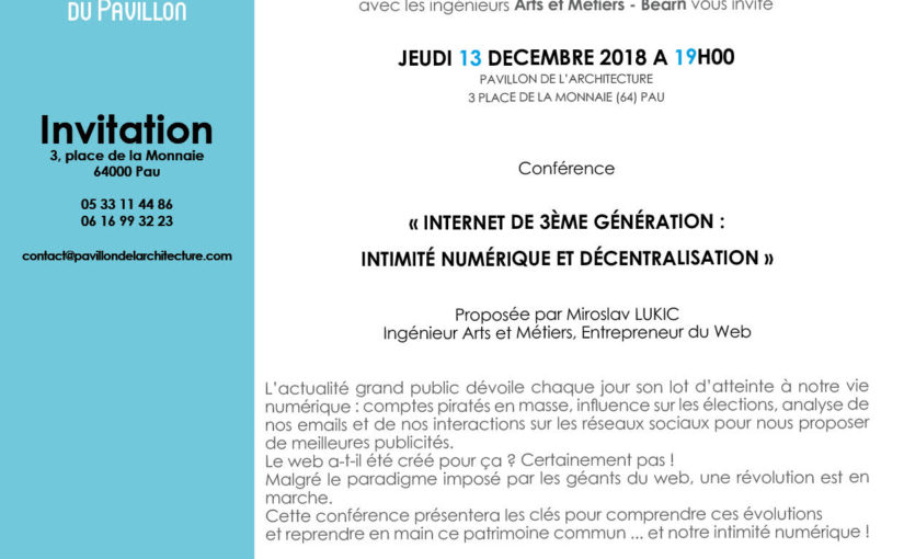 Internet de 3ième Génération : Intimité numérique et décentralisation